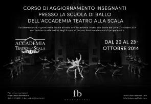 Corso di aggiornamento insegnanti alla Scuola di ballo dell'Accademia Teatro alla Scala dal 20 al 23 ottobre 2014