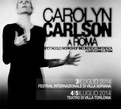 Workshop con CAROLYN CARLSON a Roma il 4 e 5 luglio 2014
