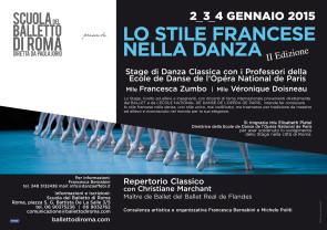 Stage di danza classica per allievi e insegnanti con Professori dell'Opéra di Parigi dal 2 al 4 gennaio 2015