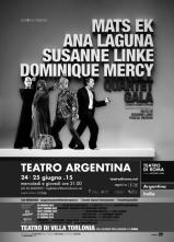 Mats Ek, Ana Laguna, Susanne Linke, Dominique Mercy in scena al Teatro Argentina di Roma in Quartet Gala
