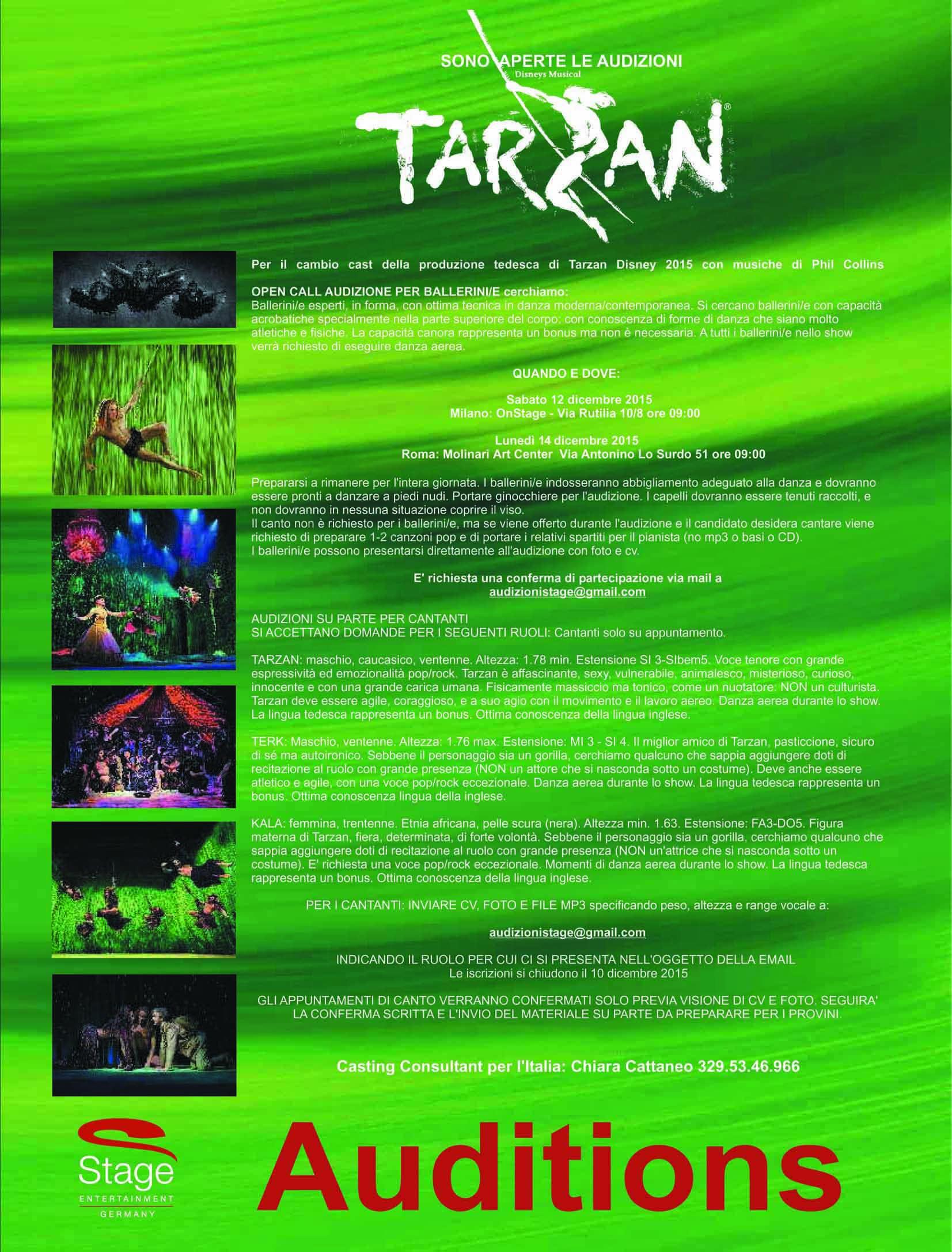 A Milano E Roma Audizioni Per Ballerine E Ballerini Per Tarzan