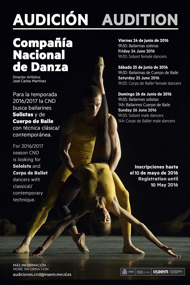 Audizione Compania Nacional De Danza Spagna Danza Effebi