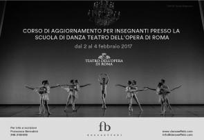 Scuola di danza del Teatro dell'Opera di Roma. Corso di aggiornamento insegnanti dal 2 al 4 febbraio 2017