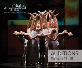 Audizione del Ballet de l'Opéra National du Rhin per ballerini e ballerine per la stagione 2017-2018 (Francia)
