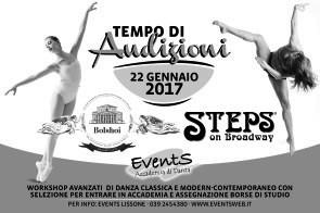 Stage audizione per i Summer Course 2017 della Steps a New York e Accademia Bolshoi