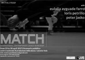 MATCH International Contemporary Dance Workshop con Lali Ayguade Farro, Loris Petrillo e Peter Jasko