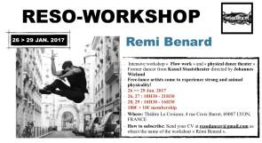 Reso-Workshop con Rémi Benard della Kassel Staatstheater, Johannes Wieland