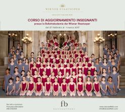 Corso di aggiornamento insegnanti presso la Ballettakademie der Wiener Staatsoper, l'Accademia del balletto del Teatro dell'Opera di Vienna dal 28 febbraio al 1 marzo 2017.