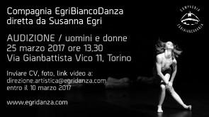 Audizione Compagnia EgriBiancoDanza a Torino per danzatori e danzatrici