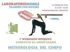Meteorologia del corpo. Workshop intensivo con André Soares
