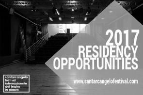 Santarcangelo dei Teatri. Opportunità di residenza artistica 2017.