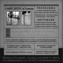 Campo estivo di danza alla Daedalus Academy