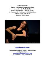 Laboratorio di Danza Contemporanea Orientale con Paola Stella
