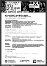 A Milano tavola rotonda Le politiche pubbliche per lo spettacolo dal vivo. Un confronto con la Francia.