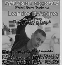 Stage di danza classica con Leandro D'Andrea