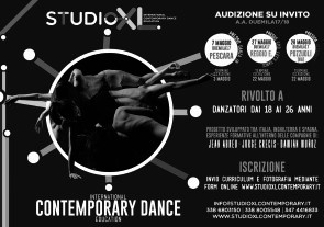 Audizioni A.A. 2017-2018 Studio XL, International Contemporary Dance Education