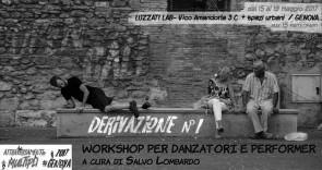 Derivazione n.1. Workshop gratuito per danzatori e performer a cura di Salvo Lombardo