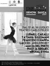Genova in Danza 2017. A luglio stage al Carlo Felice di Genova.