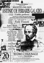 Il Balletto del Sud debutta in Antonio De Ferrariis Galateo – Il medico gentiluomo, nuovo spettacolo di Fredy Franzutti