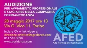 Audizione Fondazione Egri per la Danza per Corso di alta formazione e per stagiaire in compagnia.