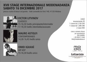 Stage Internazionale Modenadanza 2017