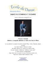 Stage di danza e laboratorio coreografico con Francesco Ventriglia