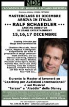 A Milano masterclass con Ralf Schaedler, Casting Director di Stage Entertainment DE