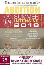 Audizione-Stage per l'accesso al Summer Intensive 2018 Accademia Bolshoi di Mosca