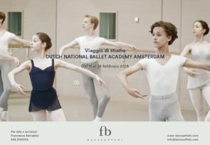 Dutch National Ballet Academy di Amsterdam. Corso di aggiornamento per insegnanti di danza dal 12 al 14 febbraio 2018.