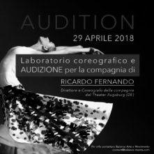 Workshop Audizione con Ricardo Fernando, Compagnia del Theater di Augsburg