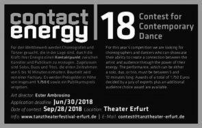 Tanztehaterfestival Erfurt. Dance Contest 2018 (Germania)