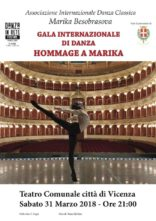 Gala Internazionale di Danza Hommage a Marika Besobrasova al Teatro Comunale di Vicenza