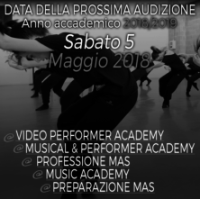 Audizioni MAS Music, Arts & Show