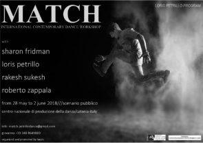 MATCH International Contemporary Dance Workshop con Sharon Fridman, Loris Petrillo, Rakesh Sukesh, Roberto Zappalà