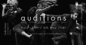 A Bari audizione per la Pera - School of Performing Arts-GAU di Cipro
