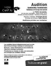 Audizione Théâtre du Capitole per danzatori e danzatrici, solisti e per il Corpo di ballo per la stagione 2018-2019 (Francia)