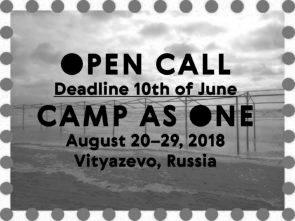 CAMP AS ONE. Open Call per residenza sul Mar Nero (Russia)