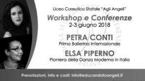 Workshop e Conferenze con Petra Conti e Elsa Piperno al Liceo Coreutico Statale Educandato agli Angeli di Verona