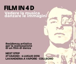 Teresa Sala, Ilaria Vergani Bassi, Mattia Parisotto e Gabriel Beddoes i vincitori della call Film in 4D – Vedere la musica, danzare le immagini