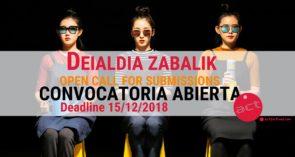 ACT 2019 International Festival. Open Call