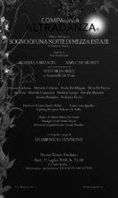 A Bari Sogno di una notte di mezza estate di Domenico Iannone con Rossella Brescia, Amilcar Moret e la Compagnia Altradanza