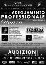 Audizione Corso Adeguamento professionale scuola di danza Teatro Golden