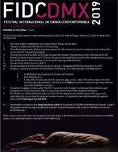Concorso Internazionale per solisti over 40 di danza contemporanea al Festival FIDCDMX (Messico)