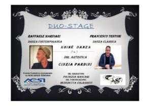 Duo Stage con Francesco Testoni e Raffaele Marinari