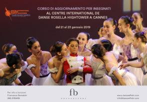 Centre International de Danse Rosella Hightower a Cannes-Mougins. Corso di aggiornamento insegnanti dal 21 al 23 gennaio 2019, in Francia