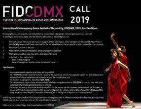 International Contemporary Dance Festival of Mexico City. FIDCDMX 2019. Open Call (Messico)