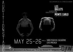 A Firenze Audizione Stage Académie de Danse Princesse Grace di Montecarlo