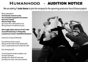 Humanhood Audition per danzatori (UK)