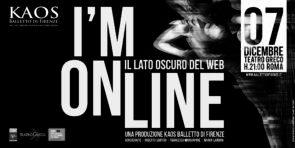 KAOS Balletto di Firenze debutta con I'M ONLINE di Roberto Sartori, Francesco Mangiapane e Marco Laudani al Teatro Greco di Roma