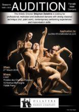 Audizione Delattre Dance Company per danzatori e danzatrici a Parigi per le stagioni 2019-2020 e 2020-2021